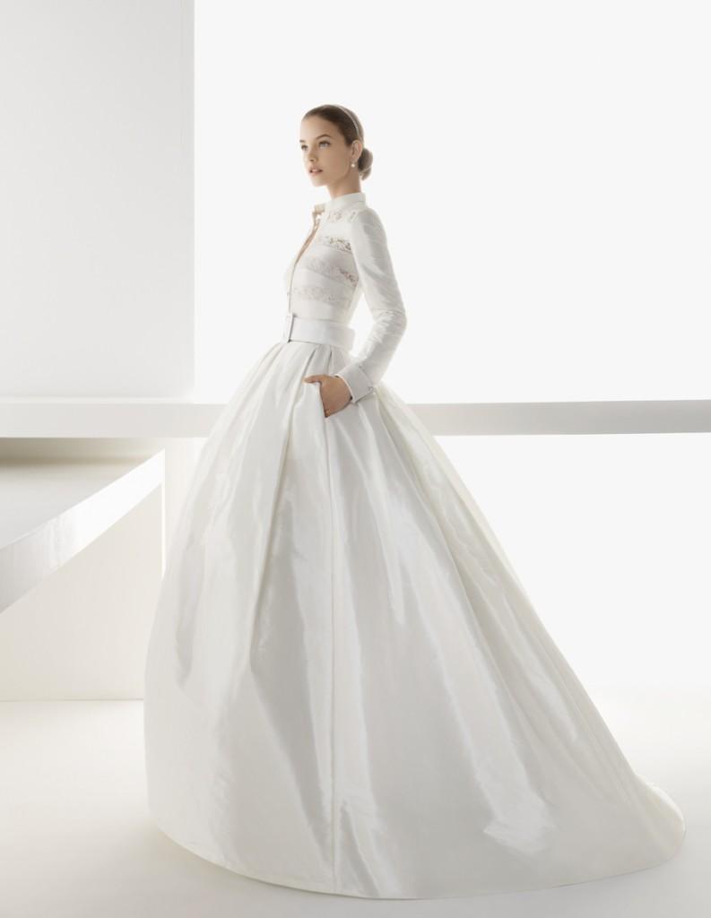 vestido novia otoño