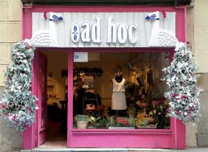 Escaparate e interior tienda Ad hoc - Madrid